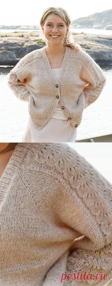 Кардиган Bronze Summerby DROPS design - Knitting.Klubok.ru.com