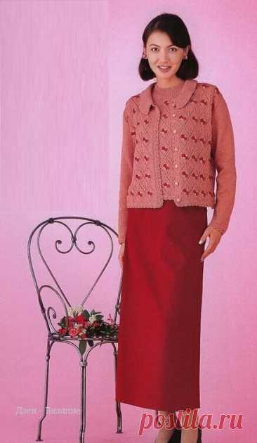 Женские модели жакетов спицами со схемами | Вязание | Яндекс Дзен