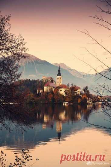 Colors of fall on the lake Bled.