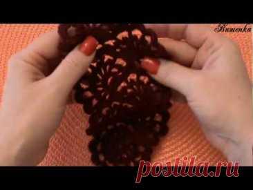 Вязание ажурной ленты ВЕЕРА | Вязание крючком для начинающих