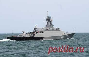 Отряд кораблей Каспийской флотилии зашел в Черное море
