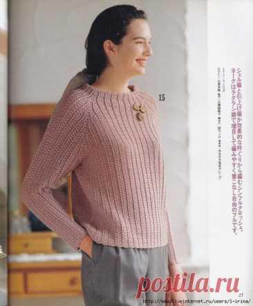 Пуловер крючком. Автор воплощения - Juliet73