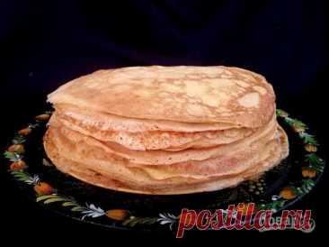 Los crepes sobre el agua - poshagovyy la receta de la foto en Повар.ру