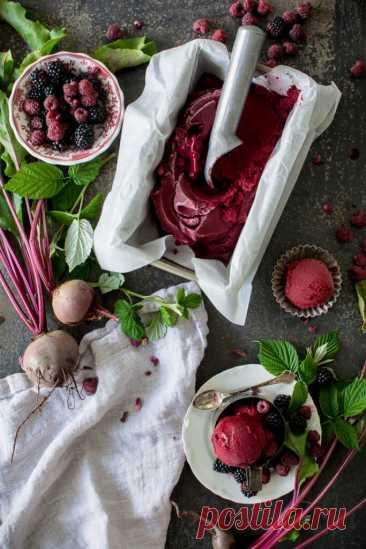 Восхитительный сорбет из свеклы и ягод