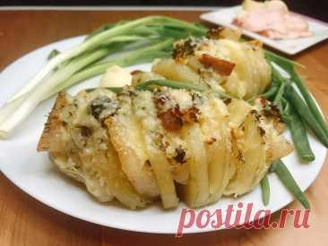Картошка-гармошка с салом в духовке | Сам поешь и жену удиви | Пульс Mail.ru Простой рецепт на каждый день