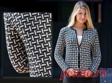 Жакет ленивым жаккардом для женщин спицами – 3 модели со схемами и описанием — Пошивчик одежды