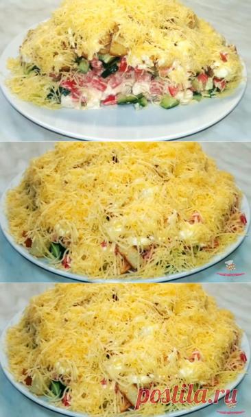 Салат с курицей и сухариками - Лучший сайт кулинарии
