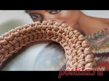 Вяжем объёмный жгут тунисским методом 😘 crochet pattern.