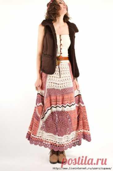 Вязанные платья в стиле бохо....это нечто!
