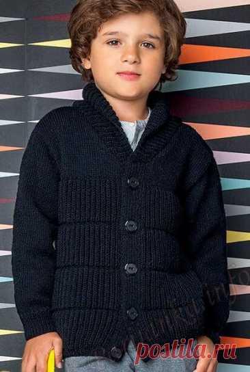 Кофта для мальчика спицами (схемы с описанием)