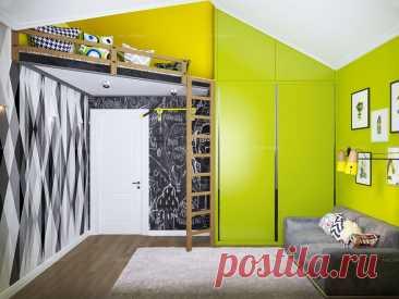 Фото интерьера, Детская комната Проект детская - Загородный дом, Автор проекта: Дизайнер Андрей Уранов