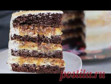 """Великолепный торт """"Сникерс"""" на День Рождения. Простой рецепт на удивление гостям"""