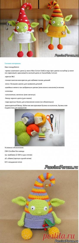 Весенний эльф крючком. МК Екатерины Савенковой   Вязаные игрушки. Мастер-классы, схемы, описание.