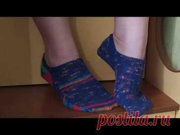 Простой способ вязания носков на 2 спицах 💚  Подробный мастер класс как вязать носки спицами