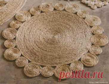 Стильные коврики из верёвки