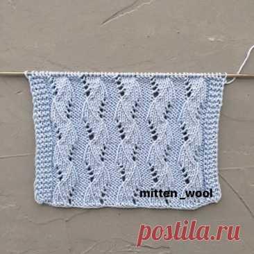 Узор спицами  #узор_спицами@knit_needles  схема  Источник: https://vk.com/wall-49818792_231166?z=photo-49818792_..