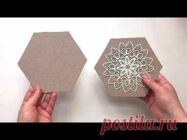 Шкатулка из картона своими руками. Идея из картона