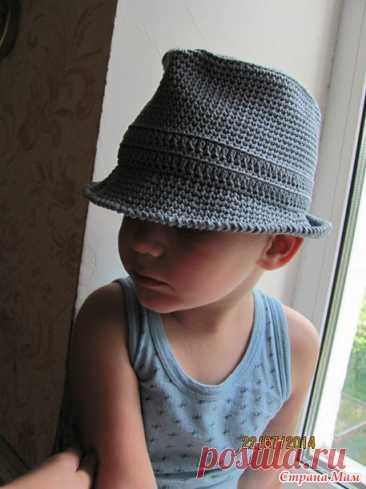 El sombrero fedora para joven ganstera - la Labor de punto - el País de las Mamás
