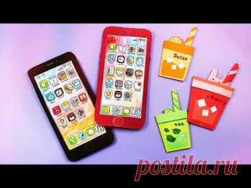 🎁Блокнот+ Органайзер iPhone для школы своими руками🎁Как сделать органайзер из бумаги🎁Back to school