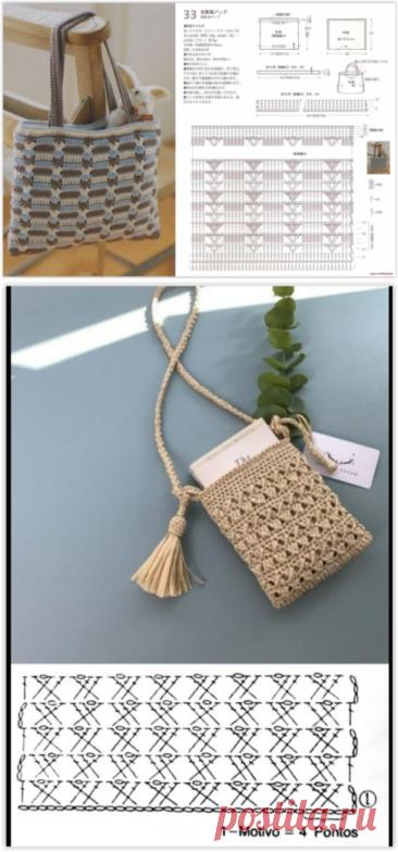 20 узоров для вязания модных летних сумок 2021 крючком!