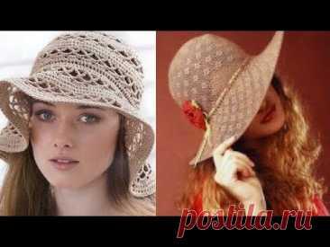 Женские шляпы крючком - Women's Crochet Hats - YouTube