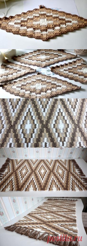 Сделала модный самодельный коврик и сэкономила при этом около 20 000 рублей. Результат выше всяких похвал | Шебби-Шик | Яндекс Дзен