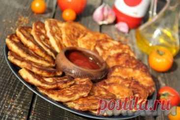 """Оладьи """"Мини-пицца"""" на кефире на сковороде - 11 пошаговых фото в рецепте(***)"""