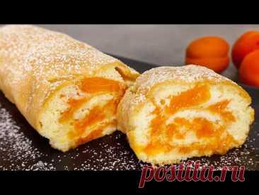 20 минут и вкусный абрикосовый рулет готов! # 296