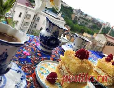 Пирожное Нежный яблочный десерт с кремом