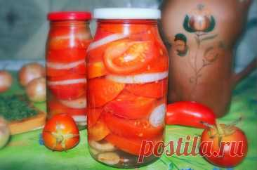 Помидоры в желе с желатином на зиму с луком рецепт с фото пошагово и видео