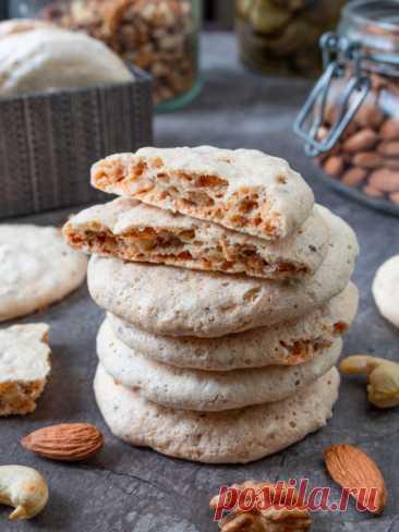 Рецепт воздушного орехового печенья на белках на Вкусном Блоге