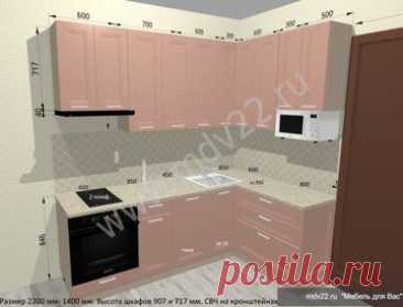 Kitchens for a five-storey apartment block angular, design the project of kitchen for a five-storey apartment block, kitchen furniture for five-storey apartment blocks