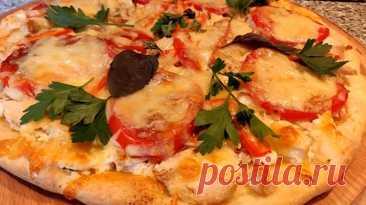 Вкуснейшая и необычная пицца: быстрый и легкий рецепт