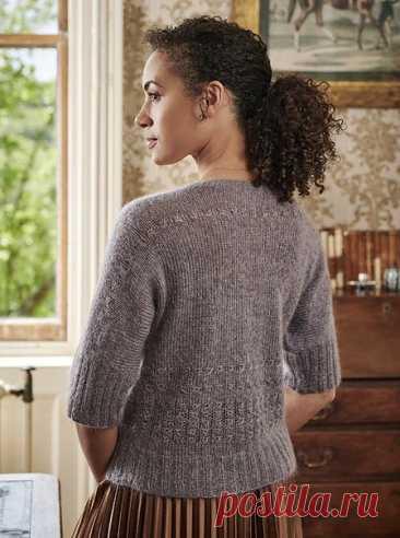 Джемпер Eluned от Sarah Hatton  Возможны варианты: глубокий V-образный вырез пуловера одинаково хорошо смотрится как спереди, так и на спине