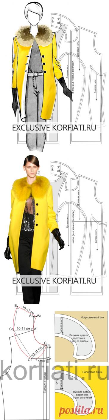 Выкройка прямого пальто от Анастасии Корфиати
