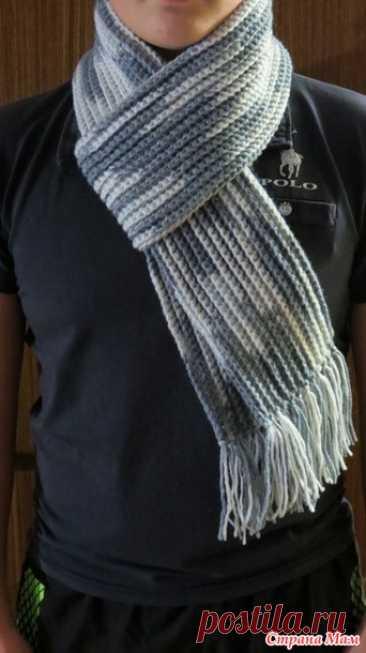 Шарф крючком, 40 схем и узоров для вязания шарфов