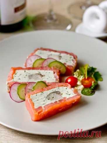 Рецепт террина из красной и белой рыбы со сливочным сыром на Вкусном Блоге