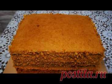 Медовый торт. Медовик с заварным кремом и вишнёвым конфитюром. БЕЗ ЛИШНИХ ЗАМОРОЧЕК