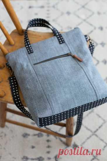Стильные переделки из джинсов: сумки, шопперы. С выкройками!