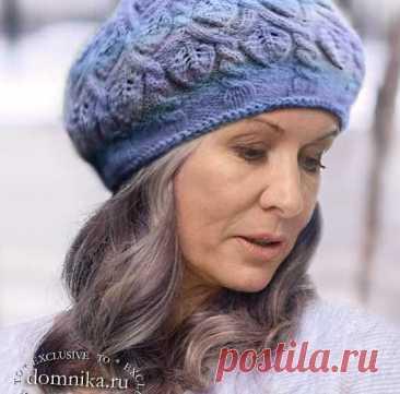 Модные вязаные шапки для женщин 60 лет - описания и схемы бесплатно