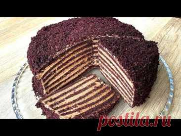 Бархатный торт с кремом «Мороженое»