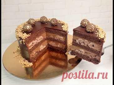 торт ЩЕЛКУНЧИК! Орехово-шоколадный торт с прослойкой БЕЗЕ!  ИДЕАЛЬНЫЙ ШОКОЛАДНО-ОРЕХОВЫЙ Бисквит