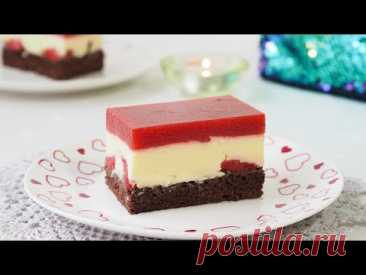 Пудинг торт с клубничным муссом