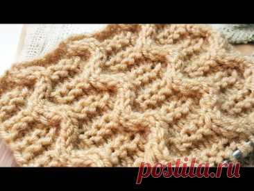 Эффектный узор спицами 🌺 knitting pattrern. - YouTube