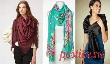 Как красиво завязать шарф и платок? Стильные варианты – В Курсе Жизни