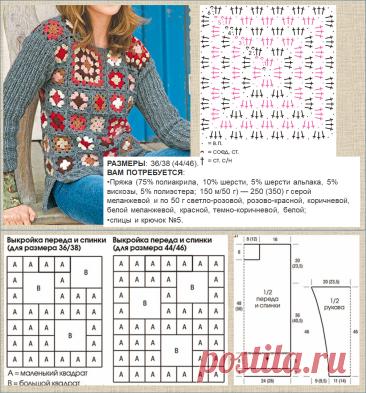 Простые интересные модели, связанные бабушкиным квадратом - вязание крючком | МНЕ ИНТЕРЕСНО | Яндекс Дзен