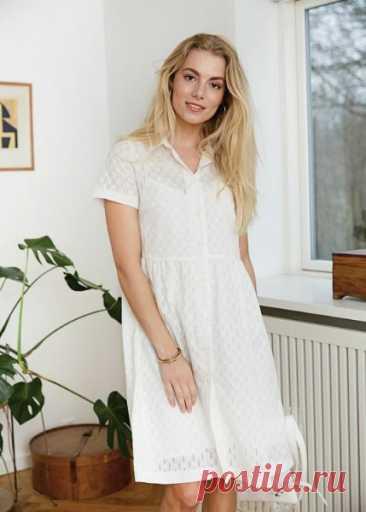 Женское платье-рубашка  Размеры выкройки: 36-46 европейские