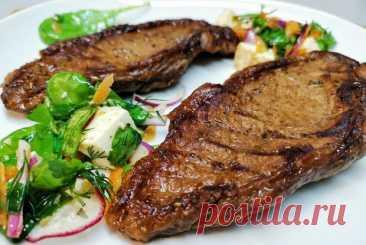 Сливочный стейк стриплойн, пошаговый рецепт с фотографиями  – британская кухня: основные блюда. «Еда»