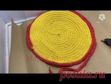 Намудрила из бельевой веревки сделала коврик