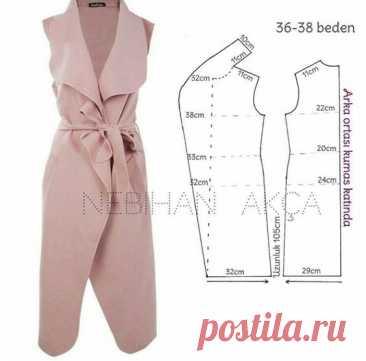 Варианты пальто и жилетов, которые будет легко сшить к весне